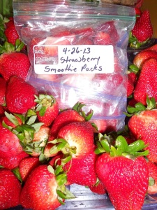 Strawberries. Only strawberries.