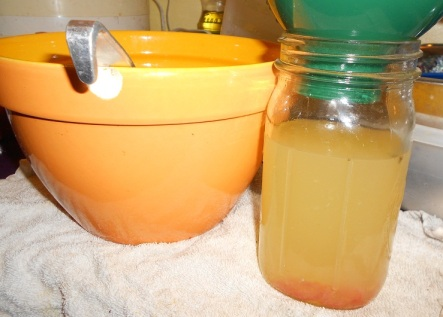 ACV into jars 11-10-12