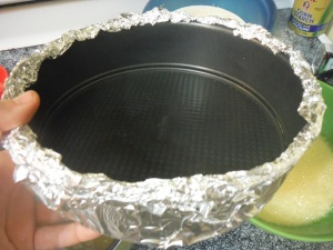 Step 3 - Line Springform Pans to Avoid Leakage